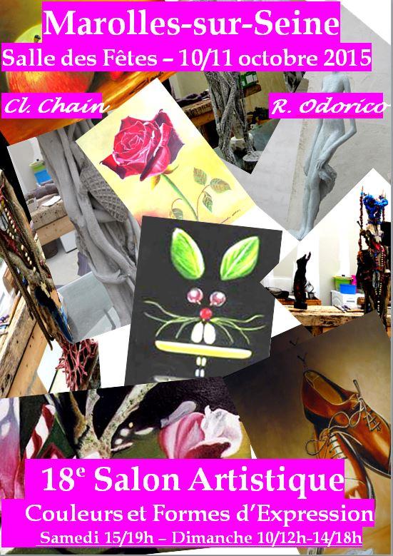 18e salon artistique couleurs et formes d expression for Salon formation artistique